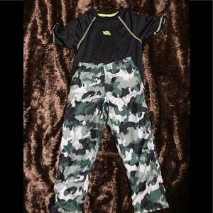 Boys tony hawk camo outfit